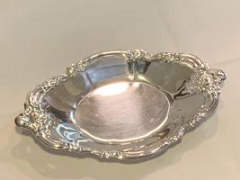 Silver Plated Biscuit / Cookie Plate / Cheese dish with Ornate Rim  - $89.99