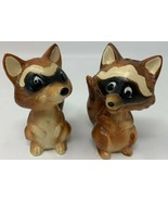 Vintage Norcrest Lefton Raccoon Salt And Pepper Shakers Japan 19-2559 - $23.70
