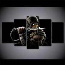 5 Pcs Mortal Kombat Game Home Decor Wall Picture Printed Canvas Painting - $45.99+