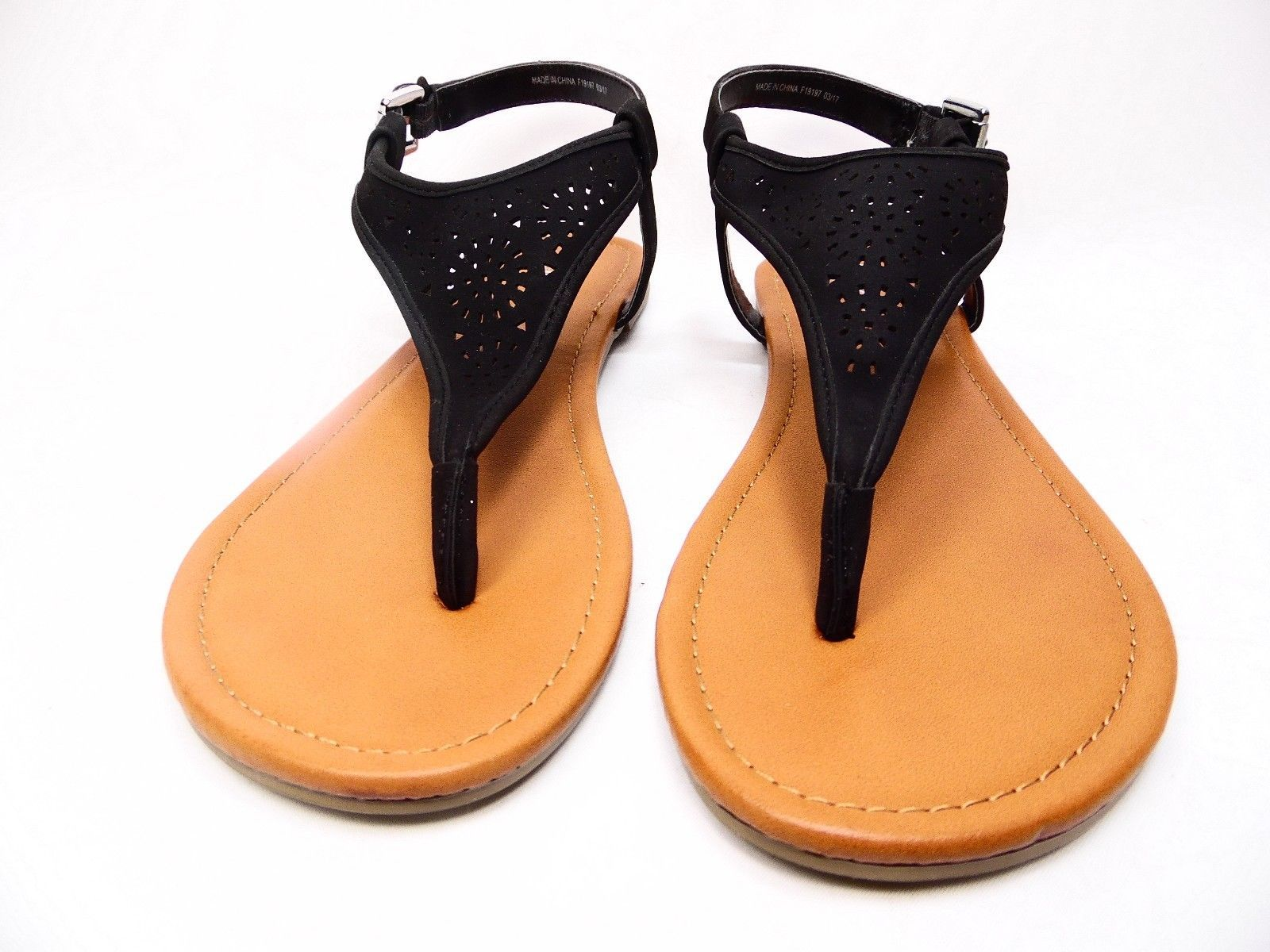 45b612185d60 Arizona Sari Womens Flat Sandals Black Size and 50 similar items. S l1600
