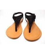 Arizona Sari Womens Flat Sandals Black Size 11M - $34.08 CAD