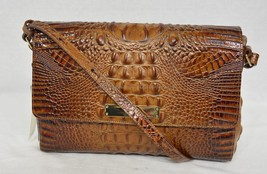 NWT! Brahmin Thea Shoulder Bag in Toasted Almond Melbourne Croc-Embossed Leather - $249.00