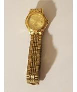 Seiko Sports 50 Ladies Wristwatch Watch Gold Tone 7N82-0349 - Working - $46.74