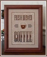 Fresh Brewed Coffee cross stitch chart Little House Needleworks  - $7.65