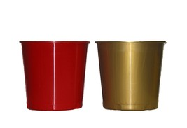 2 RED GOLD OFFERING OR ICE BUCKETS MADE USA HOLDS 176 OUNCES LEAD FREE N... - €22,27 EUR