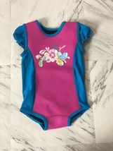 Speedo Toddler's Pink and Blue One Piece Swimsuit Size 12-24 Months - $13.29