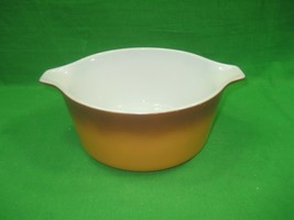 Vintage Pyrex Ovenware Brown Orange Color Casserole Dish Model 474-B 1.5 Qt - $13.98