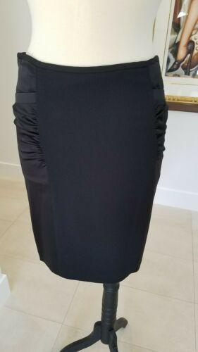ARMANI COLLEZIONI Black Viscose Like Satin Panels Dress Skirt  Size 8 image 6