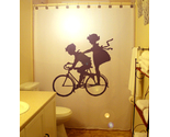 Children on bicycle shower curtain  100 thumb155 crop