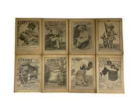 GRIT Magazine Story Section 1930 Antique Periodical- Lot of 8 - $34.60