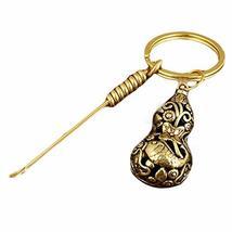 Brass Ear Pick Ear Wax Removal Tool Earpicks and Cucurbit Key Chain - $17.49