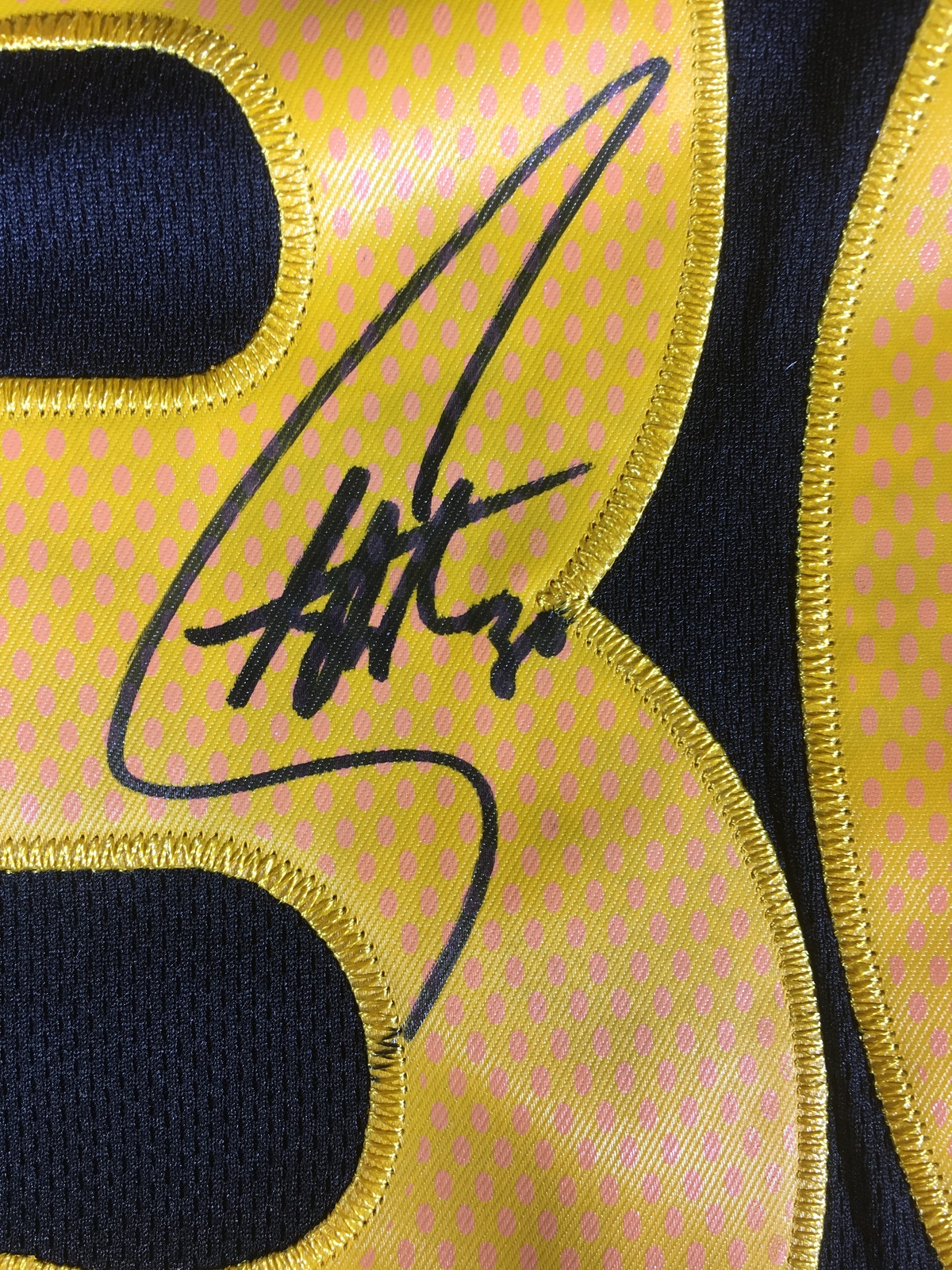 90b2cf8935a STEPHEN CURRY - GOLDEN STATE WARRIORS - HAND SIGNED CHINESE NEW YEAR JERSEY  COA