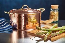 DEMMEX 1.2MM Thick Hammered Copper Soup Pot Stew Pan Casserole, 3.4 Quar... - $95.57
