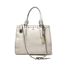 Coach 37400 Crosby Carryall in Floral Rivets Leather Chalk Women's Bag - $246.51