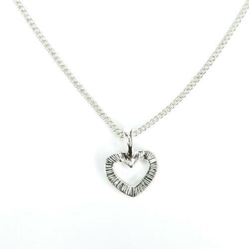 "SHB Signed Avon Silvertone Heart Shaped Clear Rhinestone Pendant Necklace 17-20"" - $12.60"