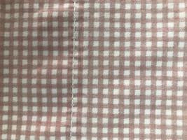 Ralph Lauren Twin Flat Sheet Off Pink and White Gingham Checks USA - $22.76