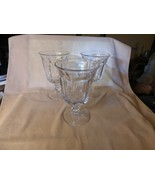 3 EAPG Early American Pattern Glass Goblets Unknown Maker - $60.00