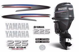 Yamaha 225 4 Stroke HP Decal Kit Outboard Engine Graphic 225hp Sticker USA MADE - $74.20