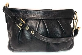 Coach #12917 Hamptons Black Leather Shoulder Bag / Clutch - $49.00
