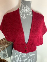Primark Y.d Girls Red Sparkly short cardigan bolero Age 12 - 13 Years Party - $5.58