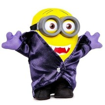 Minions Gone Batty Vampire Plush with Plastic Eyes Goggles Universal Stu... - $9.99