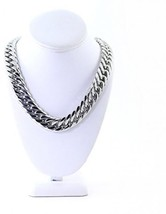 Mens Large Silver Stainless Steel Miami Cuban Chain 18.5mm 30' Long Heavy - £122.86 GBP
