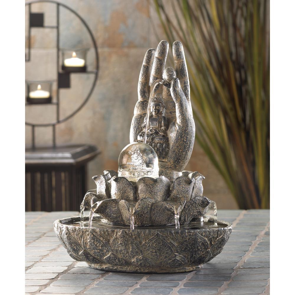 Hand of buddha fountain  1