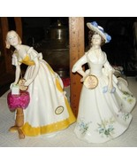 VTG ROYAL DOULTON VICTORIAN PETTICOAT LADY ADELE BIRTHDAY GIRL FIGURINE ... - $467.99