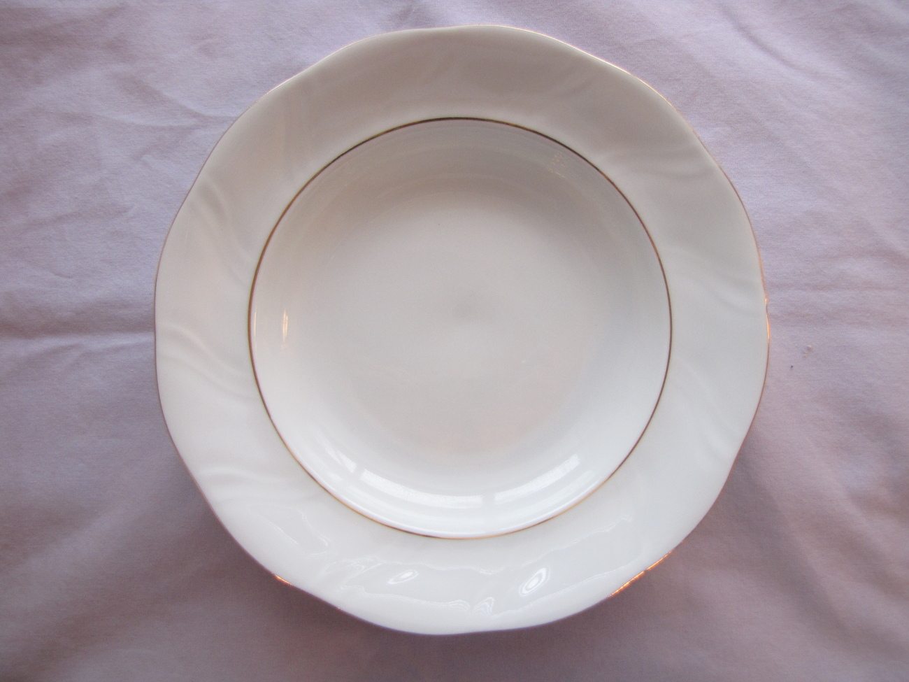 Polish Korona Rimmed Soup Bowl Poland Dinnerware China