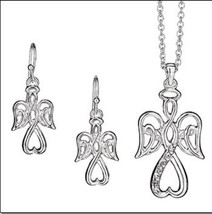 Avon Precious Angel Necklace and earring set - $19.80