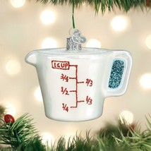 OLD WORLD CHRISTMAS MEASURING CUP KITCHEN UTENSIL GLASS CHRISTMAS ORNAME... - $14.88