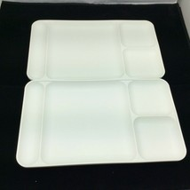 Tupperware 1535 Divided Trays Picnic Cafeteria Camping Lunch TV White Lo... - $16.78