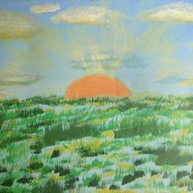 """VTG Canvas Hand Painted Picture 14X11"""" Sunset Wall Art Beach House - $12.58"""