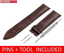 For LONGINES Watch Dark Brown Leather Strap Band Buckle 18 19 20 21 22mm - $12.18