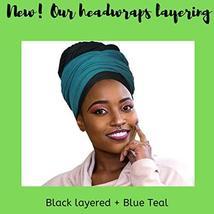 30 Colors| Novarena 1-4 Pc Solid Color Head Wrap Stretch Long Hair Scarf Turban  image 4