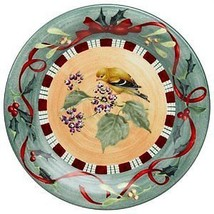 Lenox Winter Greetings Everyday GOLDFINCH Dinner Plate NEW NO BOX - $49.50