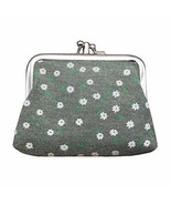 PANDA SUPERSTORE Multilayer Solid Floral Arm Green Canvas Change Purse K... - $16.99