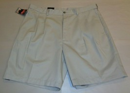 Roundtree & Yorke Size 50 EXPANDER WAIST String Cotton Pleated New Mens ... - $37.25