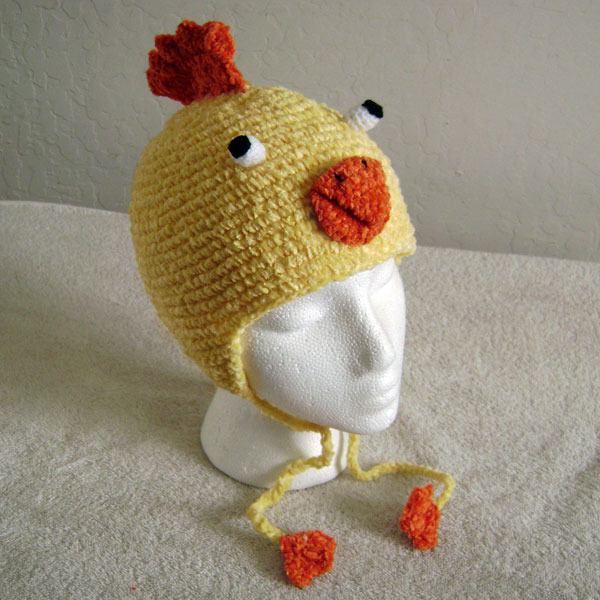 Chicken Hat w/Ties for Children - Animal Hats - Large