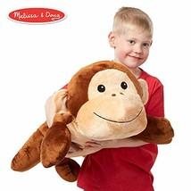 Melissa & Doug Cuddle Monkey Jumbo Plush Stuffed Animal (Reusable Activi... - $22.50