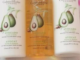 Crabtree & Evelyn AVOCADO Olive & Basi REVITALISINl Body Lotion & Bath S... - $39.00