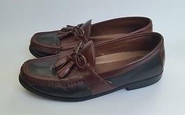 Johnston & Murphy Shoes Loafers Slip On Tassel Black Brown Mens Size 9 M - $98.96