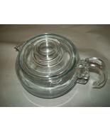 Vintage Pyrex Glass 6 Cup Teapot Flameware Model 8446-B - $24.99