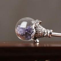 The original Aventurine classical vintage hair jewelry,handmade pink flo... - $8.49