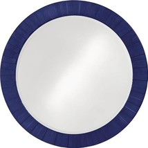 HOWARD ELLIOTT SERENITY Wall Mirror Round Glossy Navy Blue - $729.00