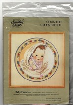 Candamar Counted Cross Stitch Kit Baby Floral by Something Special  - $30.45