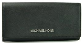 Michael Kors Purse Envelope Wallet Carryall Black Saffiano Leather Large - $183.07