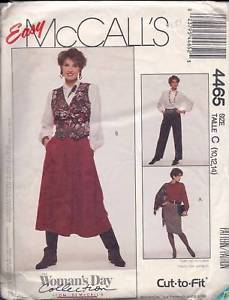Primary image for McCall's Pattern #4465 Misses' Skirts & Pants
