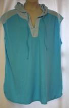 New Womens Plus Size 22W 2W Paradise & Light Blue Swim Suit Coverup With Hood - $21.28
