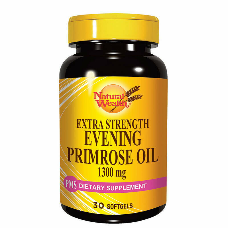 Primary image for NATURAL WEALTH - EVENING PRIMROSE OIL - FOR RELIEF OF PMS SYMPTOMS - 30 SOFTGELS